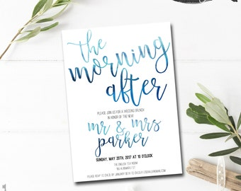 The Morning After   Post Wedding Brunch Invitation   Wedding Brunch  Invitation   Newlywed Brunch Invite