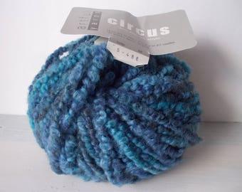 Artful yarns slate blue circus one skein 93 yards 95% wool FREE SHIPPING