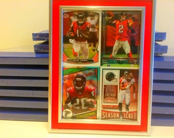 atlanta falcons framed cards tevin coleman rookie card matt ryan julio jones