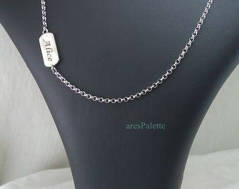 Customized Silver Chain-Handmade-925 silver - International Free Standart Shipping