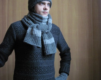 Mens-gift-for-him-gifts-Accessories-for-men-gifts-for-boyfriend warm winter scarf men's scarf knit scarf wool scarf husband gift scarf knit