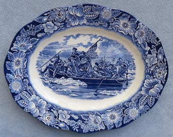 Staffordshire Liberty Blue Large 14 Inch Platter England