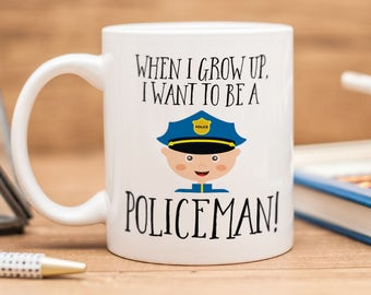 Policeman mug, great gift for future police officer