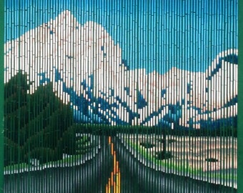Road to Nature Bamboo Beaded Curtain