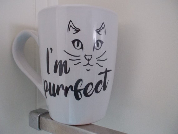 Personalized Customized Cat Lover mug gift decal on mug