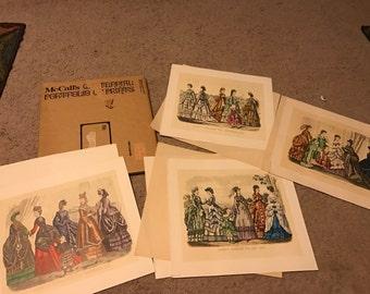 Vintage McCalls set of four prints- Godeys Fashion- all four in original package