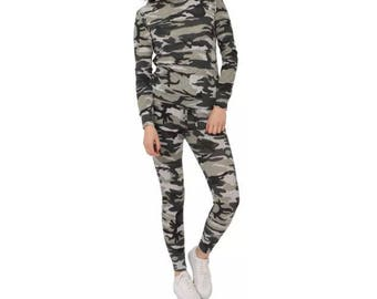 New Womens Ladies Loungewear set sweatshirt Jogger Fine Knit Tracksuit pants