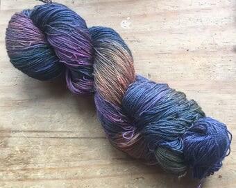 Jungle ~ Hand Dyed Baby Camel & Silk Laceweight Yarn Wool