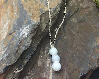 Jadeite Sterling Silver Necklace