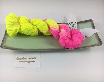 Neon socks... Hand dyed... Absolutely fabulous