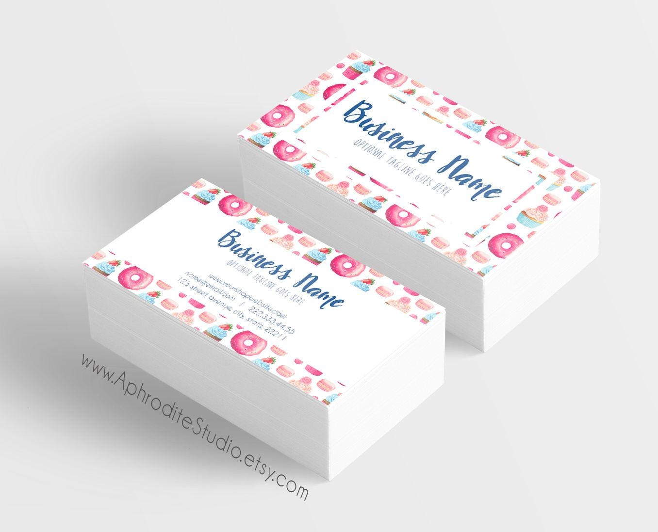 Bakery business cards - Candy business cards - Printable business ...