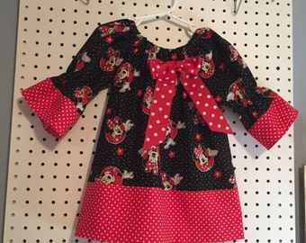 Minnie Mouse dress in toddler sizes 2T,3T,4T