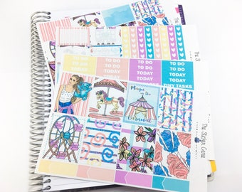 magic at the carnival Weekly Kit | Planner Stickers, Weekly Kit, Vertical Planner Kit, carnival weekly kit, circus weekly kit, fair weekly