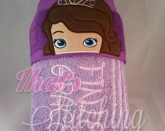 Sophia the first inspired hooded towel