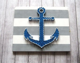Anchor Poster Nautical Anchor Art Anchor Digital Anchor Picture Sailing Clipart Boat Anchor Decor String Art Anchor Painting Anchor Wall Art
