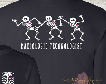 Radiologic Technologist Life X-Ray Technician Rad Tech Radiologist Tech Monogrammed T-Shirt Personalized