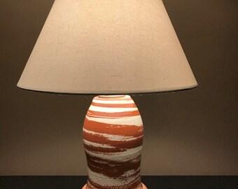 Georgia Clay Swirl Lamp