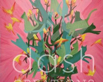 Cat-Tree - Limited Edition Glicée Print