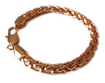 Rose Gold Wheat Chain