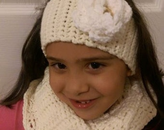 Infinity Scarf with Headband for Girls