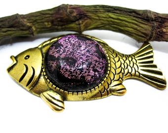 Women animal brooch Cute animal brooch Fish brooch pin ocean jewelry sea Vintage brooch Festive funny gift Women's brooches and pins