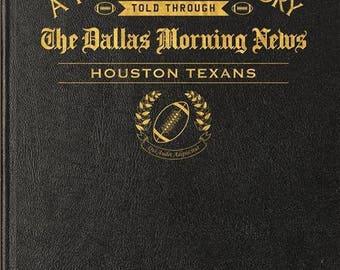 Dallas Morning News Houston Texans Football Book - Leather