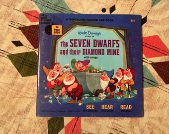 Walt Disney's Story of The Seven Dwarfs and their Diamond Mine - A Disneyland Record and Book