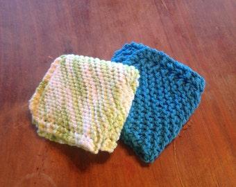 Hand knit washcloth