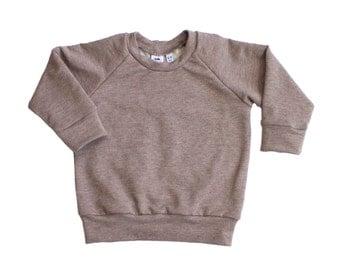 baby sweater, baby top, baby, sweatshirt, brown baby sweater, brown sweater, neutral baby sweater, casual baby sweatshirt