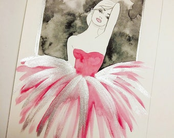 Tulle- Original Watercolor