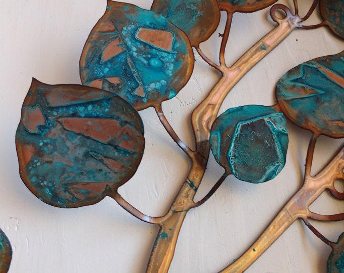Patina Aspen Leaf Wall Hanging