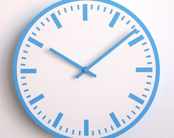 Station WALL CLOCK 30cm - Blue