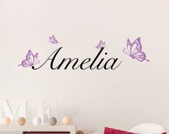 Butterfly Custom Kids Wall Decal Sticker