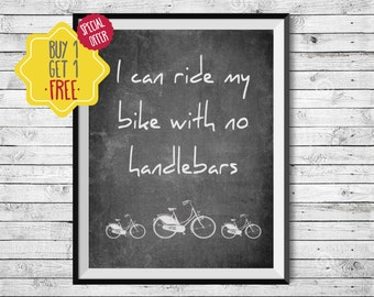 Bike poster, Bike painting, Mountain bike gift, Black and white wall art, Blackboard signs, Bicycle art, Nursery decor,Printable Kids gift,