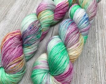 Spring Garden - Sweet Sock - Indie Sock Yarn, Indie Dyed Yarn, Speckled Sock Yarn, Hand Dyed Yarn, Sock Yarn, Indie Speckled Yarn