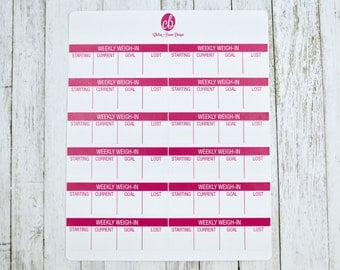 Weekly Weigh-In Planner Stickers | Passion Planner Stickers for the Classic and Compact Size