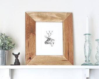picture frame wood frame wooden frame 8x10 frame rustic picture frame