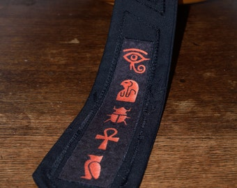 Hieroglyphic Novelty Tie - Black Punky Alternative Tie - Mens Accessories - Gifts for men - Alternative Clothing - Made in Scotland