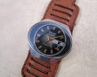 SOVIET POLJOT Stadium USSR rare vintage men's mechanical wristwatch N2
