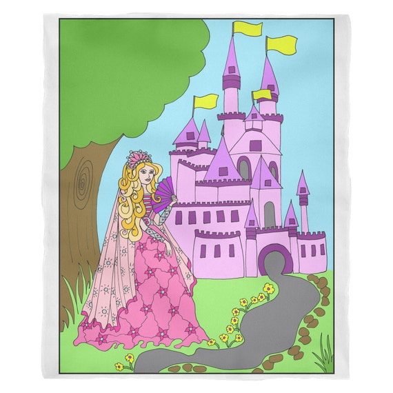 Princess Amber's Castle Blanket Princess Amber Princess Blanket Gift for Girls