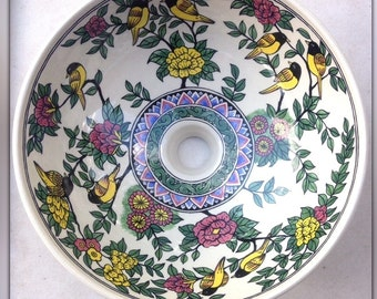 Hand painted wash basin ceramic