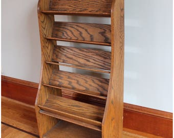 F3426 Antique Oak Counter Top Display Stand