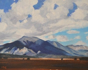 Colorado Rocky Mountain landscape original oil painting western art impressionism realism