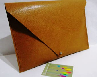 ochre, hard leather iPad case