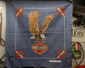 Faux Denim Harley Davidson Eagle Bandana