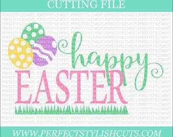 Happy Easter SVG, DXF, Eps, PNG Files for Cutting Machines Cameo or Cricut - Easter Eggs Svg, Spring svg, Egg Hunt Svg, Easter Bunny Svg
