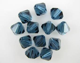 12 8mm Swarovski crystal bicone 5301 Montana beads 641