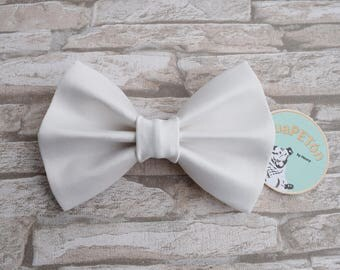 "Bow Tie Bowtie ""Wedding"" for dogs, cats or other pets, cream white"