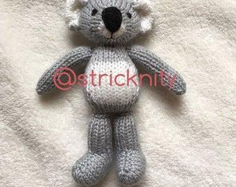 Handknitted Koala Bear for babies, newborn photography props