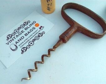 Large antique, corkscrew, antique corkscrew, corkpull, metal corkscrew, vintage corkscrew, corkscrew, antique corkscrew, corkscrew, pull #23